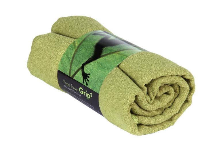 Joogapyyhe Grip oliivinvihreä
